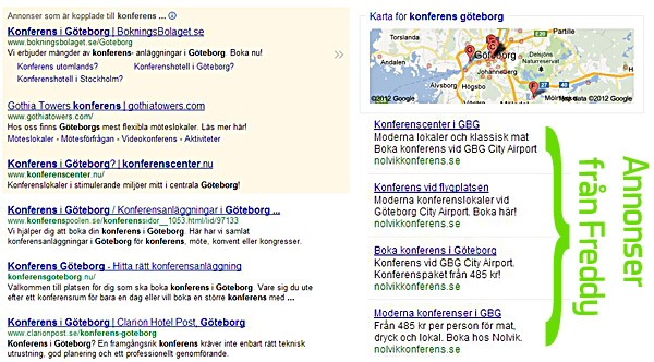 Google Adwords-annonser