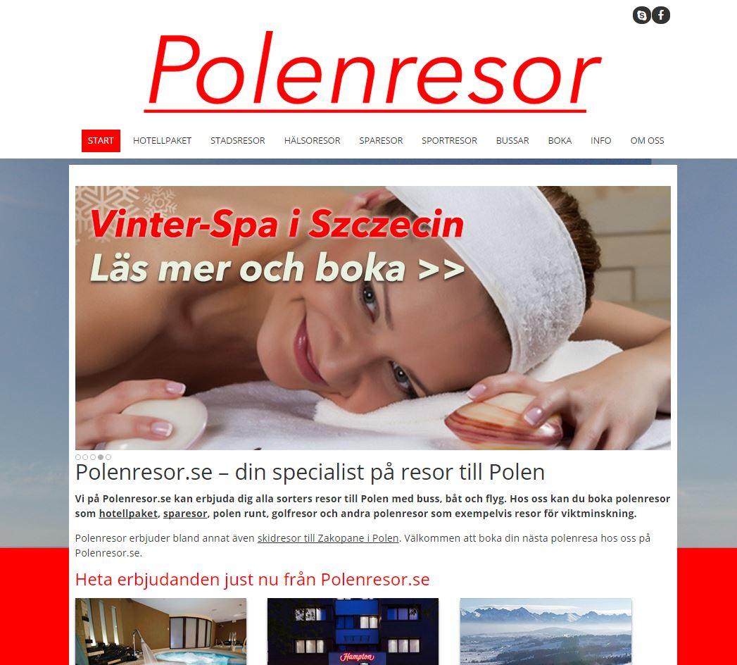 Webbdesign åt polenresor