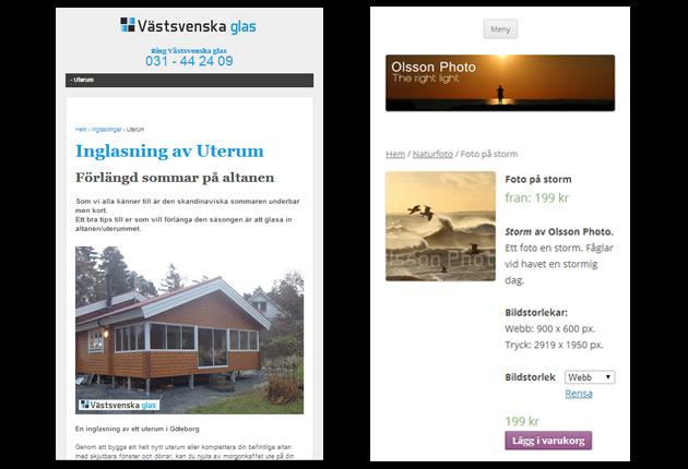 Mobilanpassad webbdesign i Helsingborg