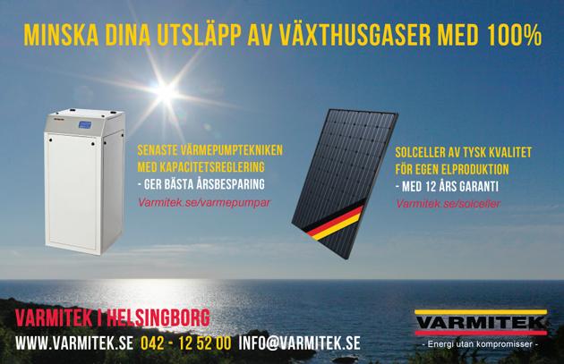 Grafisk design av annons av reklambyrå i Helsingborg
