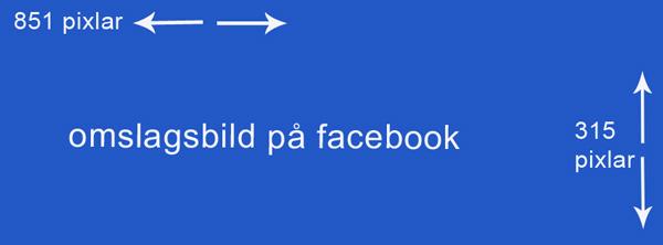 Storleken på omslagsbilden på facebook mätt i pixlar
