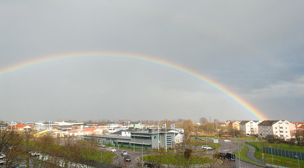Foto på regnbågen
