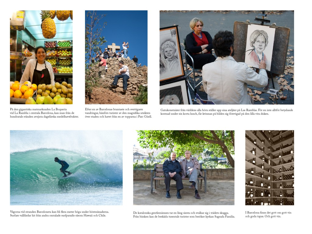 Reseguide Barcelona - bilder och texter