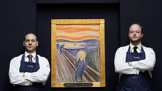 Skriet av Edvard Munch på auktionen i New York