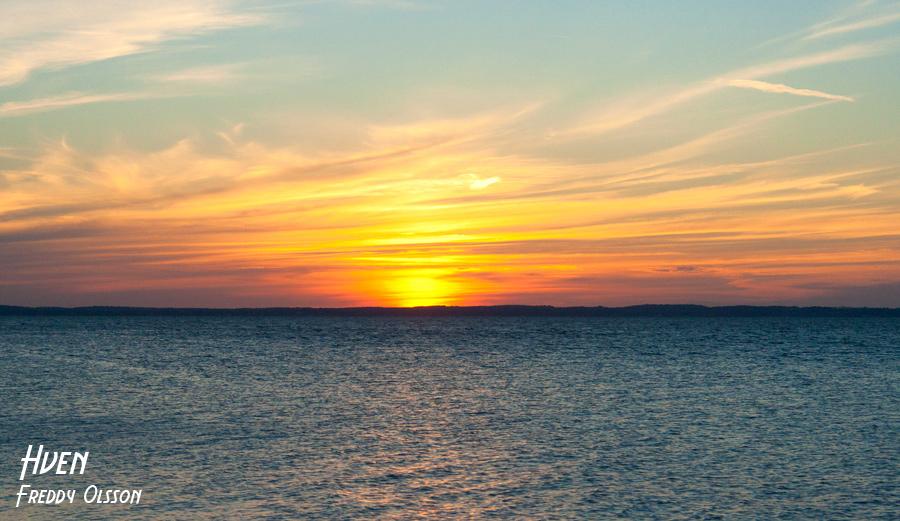 Ön Ven i Öresund bjuder på vackre solnedgångar