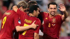 spanien mot portugal i semifinal - fotbolls em 2012