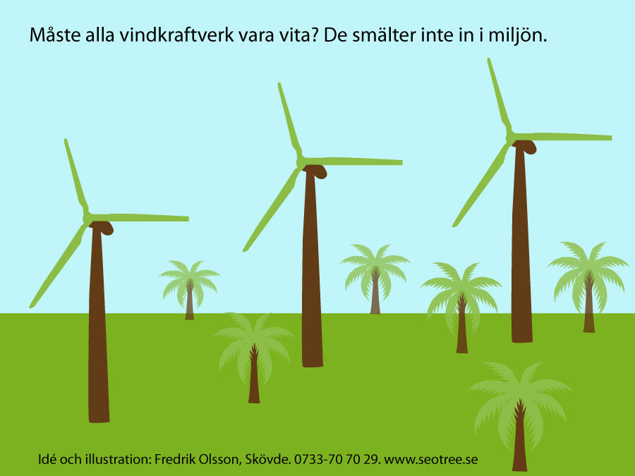 Vackra vindkraftverk i naturliga färger
