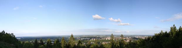 Utsikt över Skövde och matfestivalen 2012