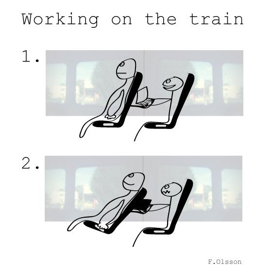 Arbeta på tåget