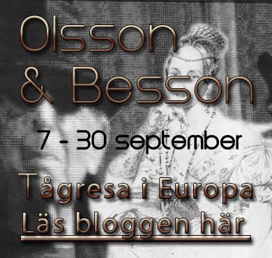 Tågluffa i Europa, Olsson och Besson september 2012.