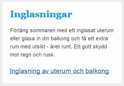 Copywriting i Helsingborg för ett byggföretag