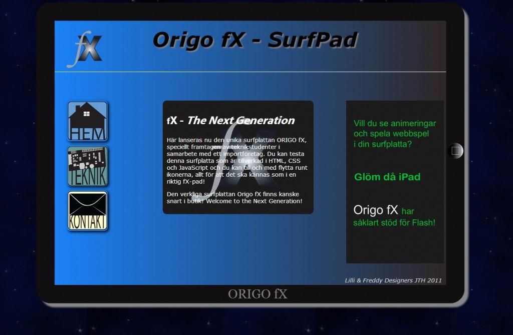 Surfplattan Origo fx