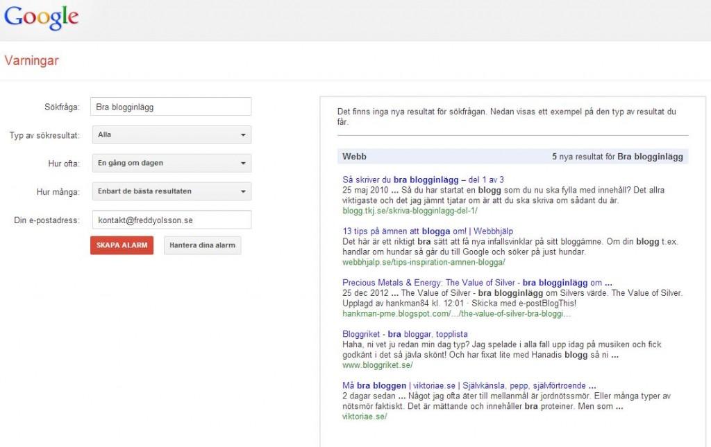 Google Alerts  - så fungerar webbrapporteringstjänsten