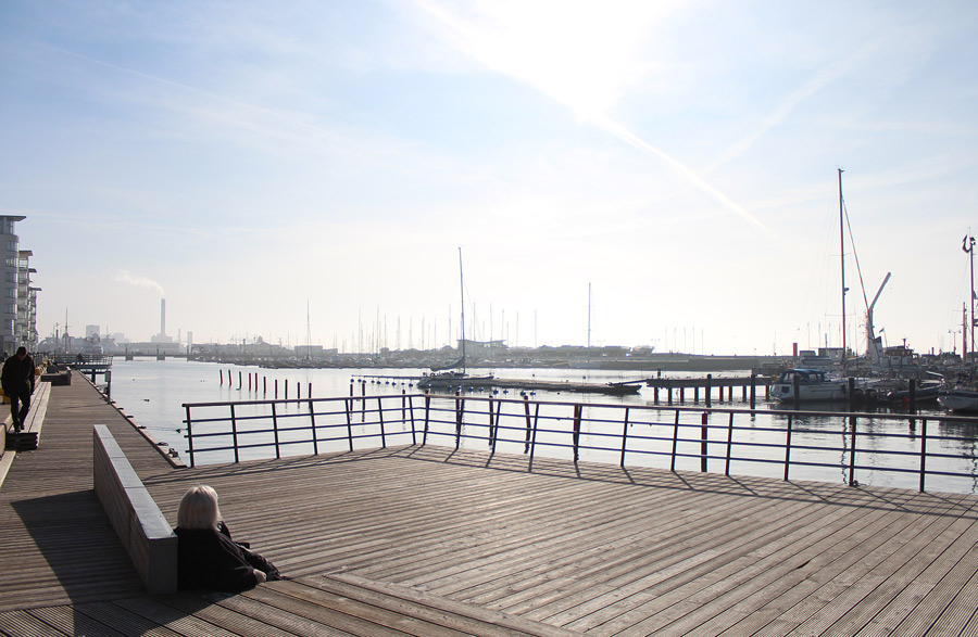Brygga i Helsingborg vid havet