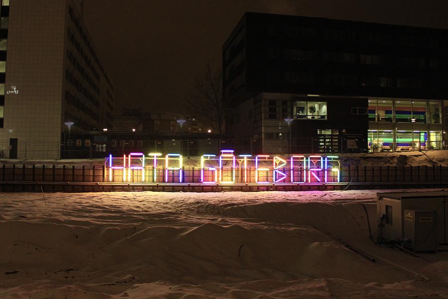 Hata Göteborg-skylten i Helsingborg