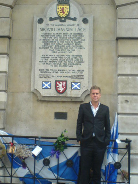 Living in London - in front of Braveheart