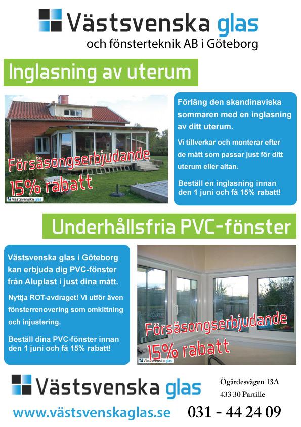 Specialerbjudande på PVC-fönster och inglasning av uterum