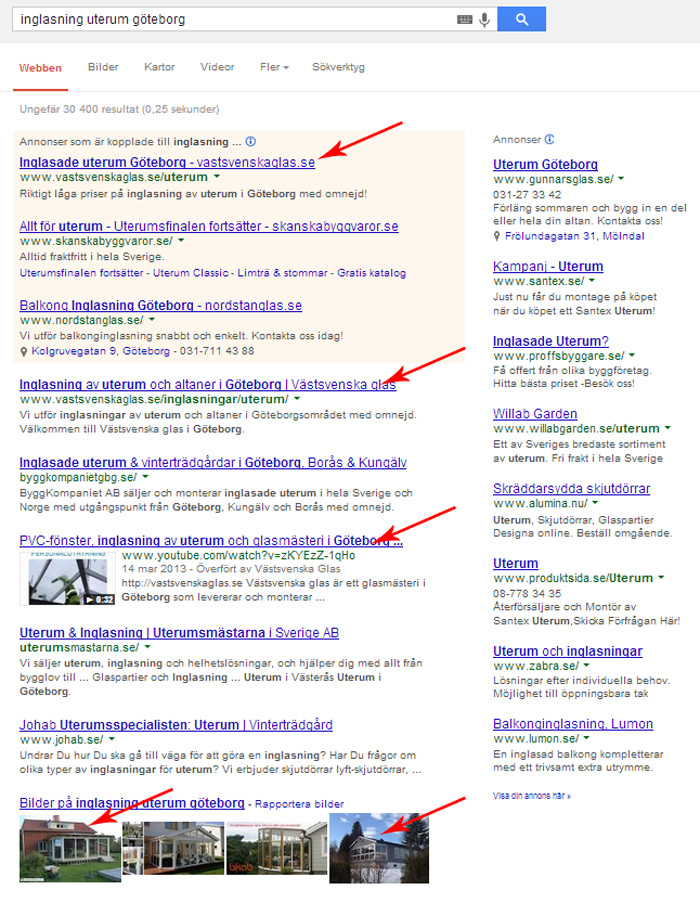 Ultimat internetmarknadsföring på Google