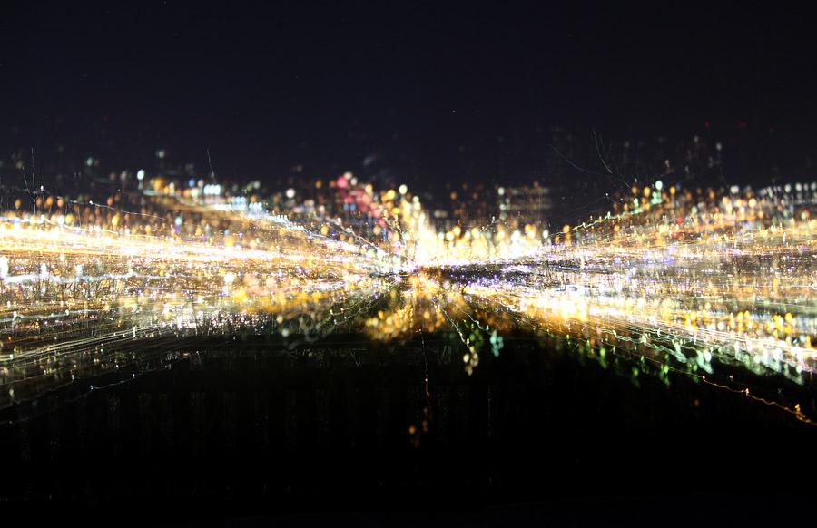 Experiment nattfotografering - utzoomning
