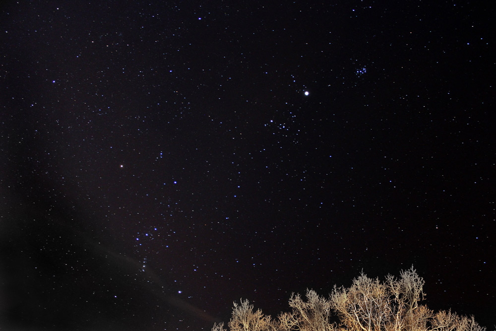 Nattfotografering av stjärnhimmel
