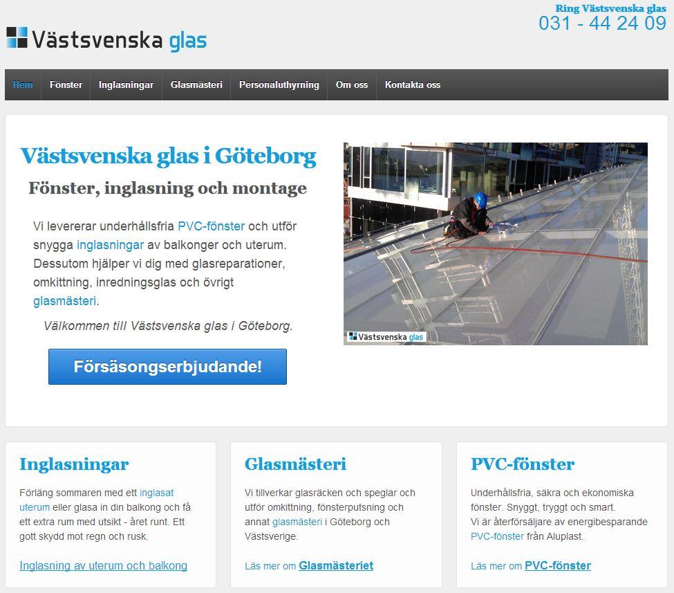 PVC-fönster och inglasning i Göteborg - Västsvenska glas