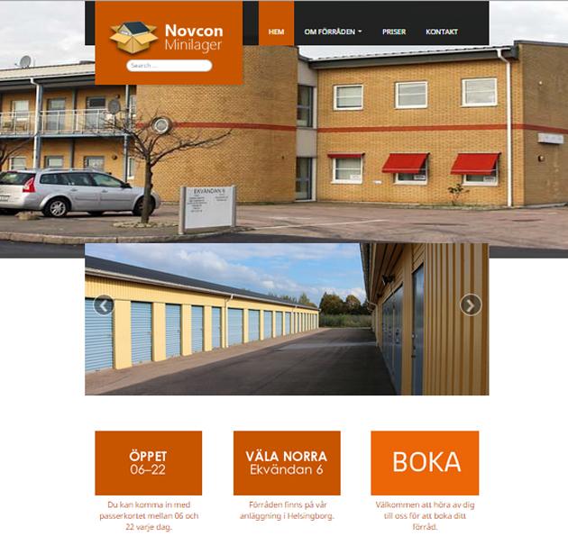 Novcon Minilager Helsingborg - fotografering