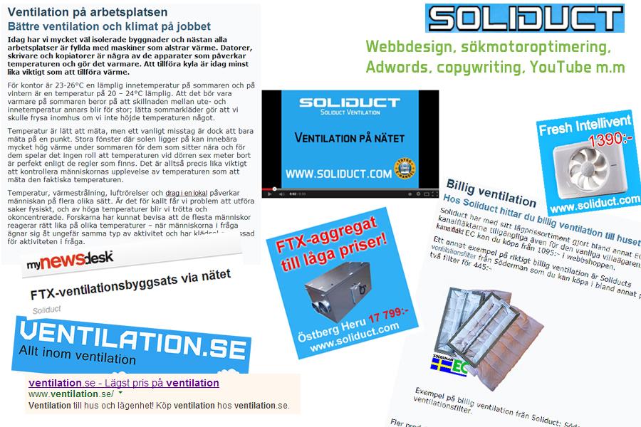 Uppdrag av kunden Soliduct