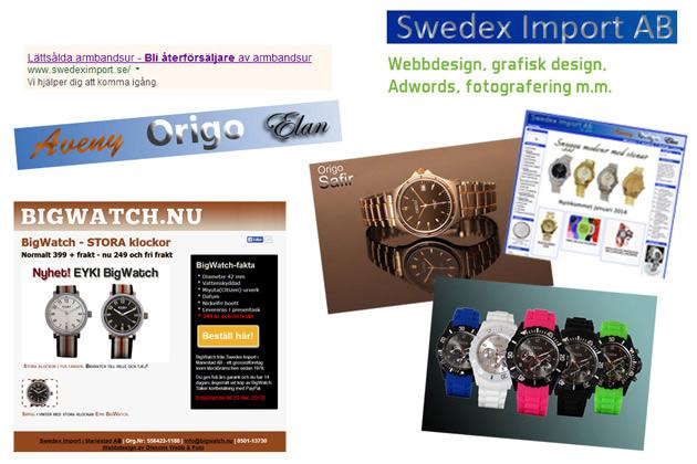 Uppdrag inom webbdesign med mera åt Swedex Import