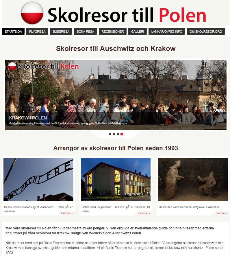 Referens webbdesign resebyrå Helsingborg