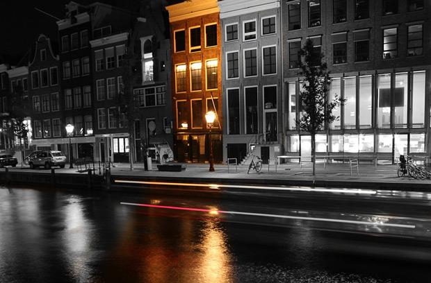 Anne Franks Hus i Amsterdam