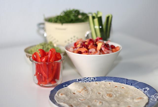 Matfoto på tacos