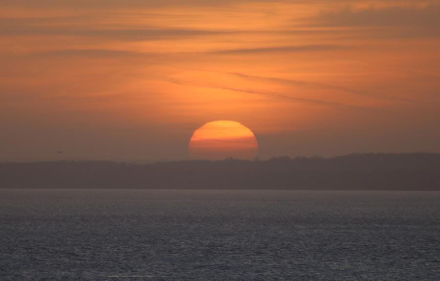 Bilder på solnedgångar - solnedgång i Helsingborg.
