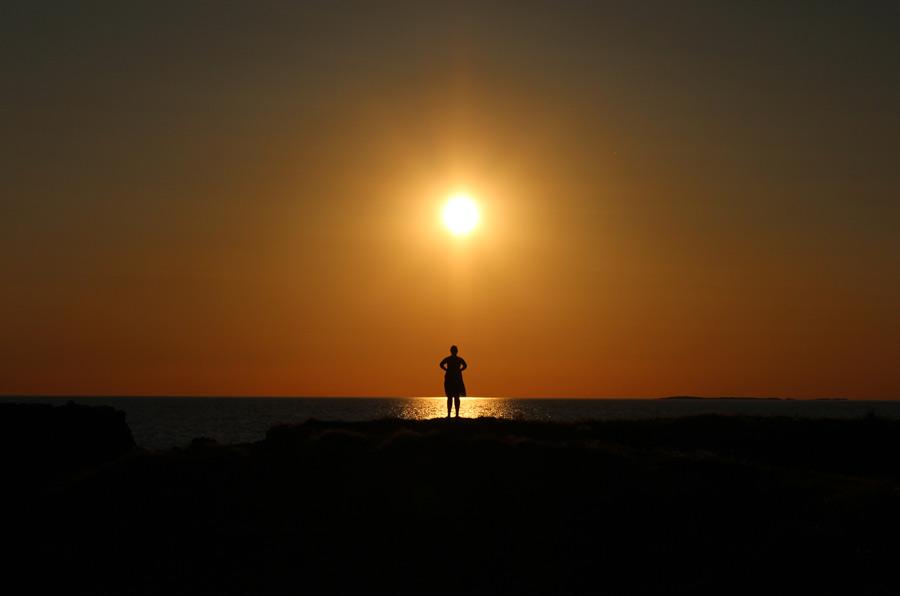 En solnedgång utanför Båstad