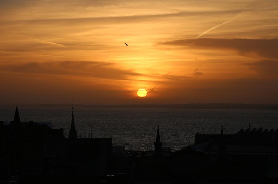 Solnedgång över Själland