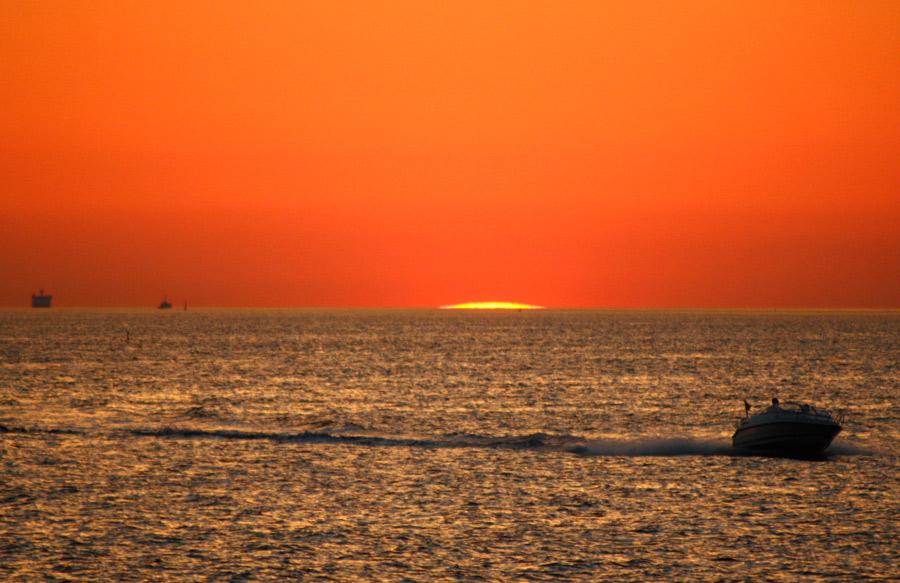 Bilder på solnedgångar - solnedgång över Öresund