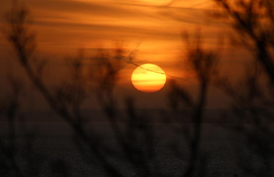 Naturfotografering av solnedgång