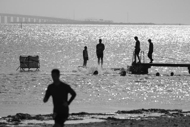 Toughest Race Copenhagen - stranden och Öresundsbron