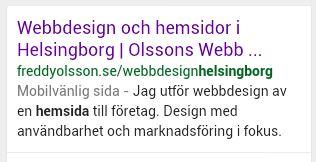 Mobilvänlig hemsida - Google