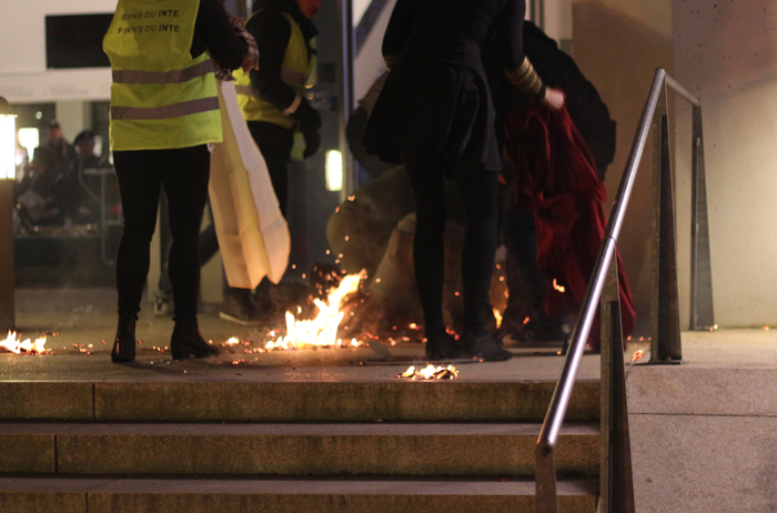 Bild publicerad i Aftonbladet, Expressen - olycka vid eldshow i Helsingborg