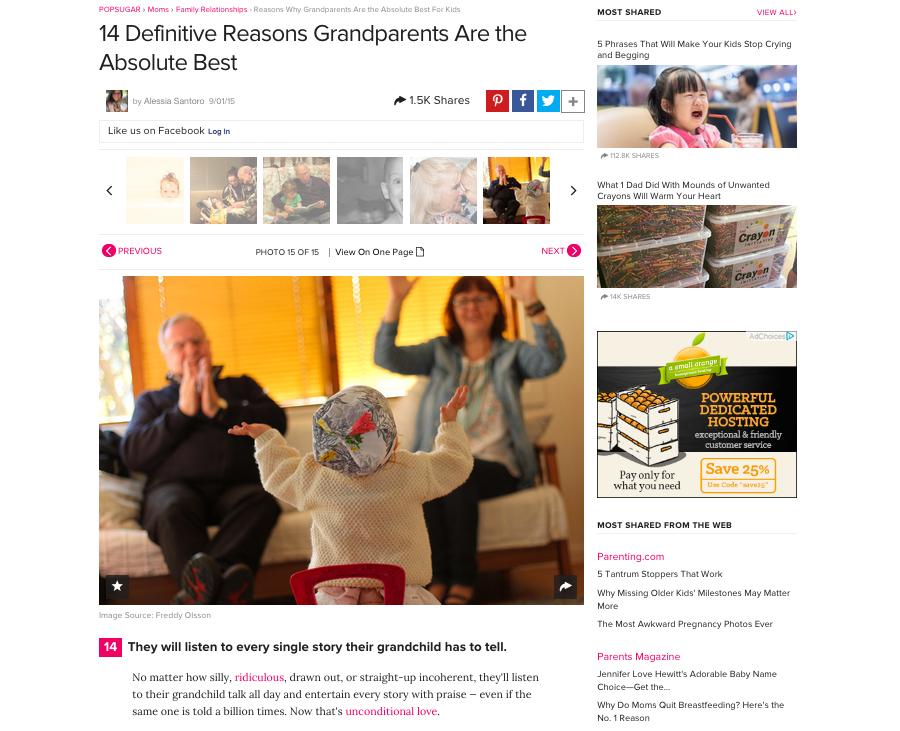 Popsugar - foto på farföräldrar