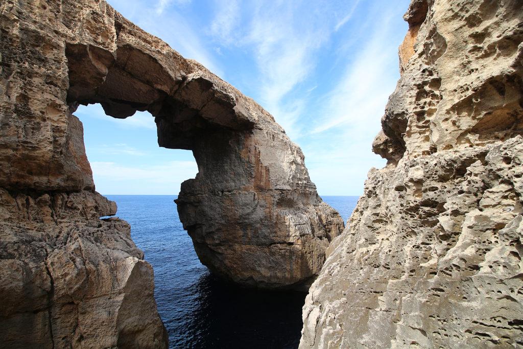 Wied il-Mielaħ in Gozo, Malta.