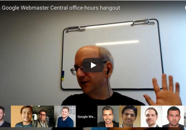 Google Webmaster Hangout 13 juli 2018