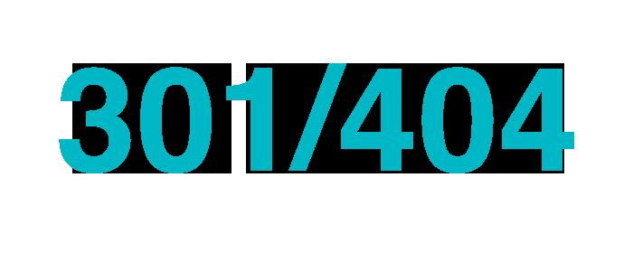 Ompekning 301 till hemsidan ger en soft 404