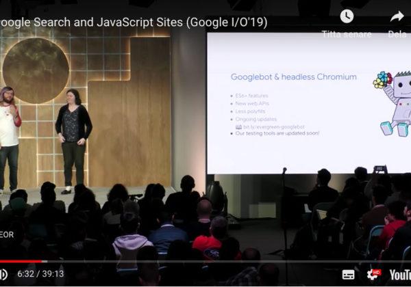 JavaScript och SEO på Google IO 2019