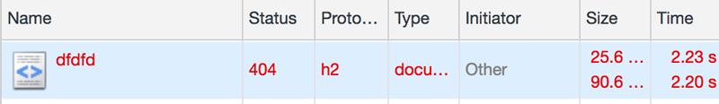 404-statuskod betyder att sidan inte finns