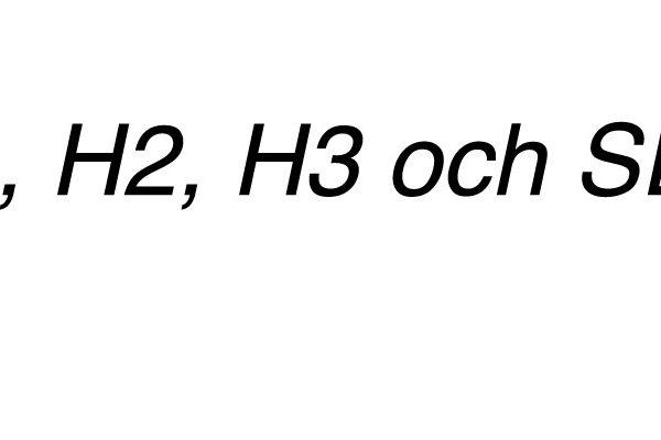 H1 och andra rubriker - SEO